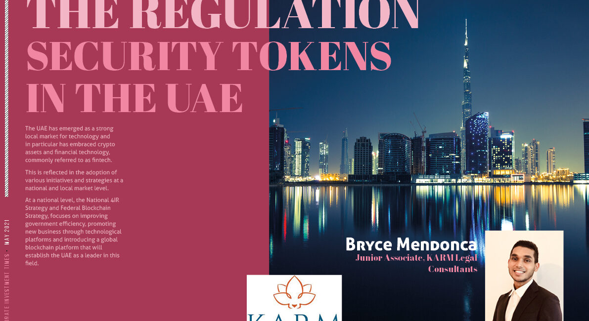 THE REGULATION SECURITY TOKENS IN THE UAE - KARM LEGAL CONSULTANTS