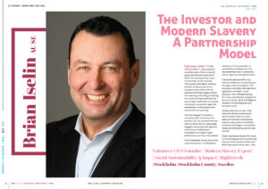 THE INVESTOR AND MODERN SLAVERY; A PARTNERSHIP MODEL – BRIAN ISELIN